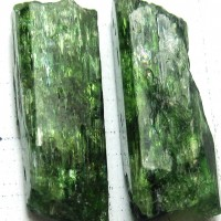 green diopside, crystals