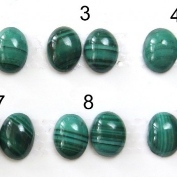 Malachite earring pair 8x6m, set A | jewelery-stones.cz