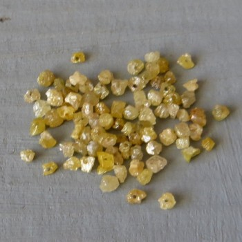 Diamond Gold raw, drilled, approx. 1.2-1.8mm- 1 pc