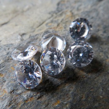 Cubic zirconia clear 6mm - 1pc