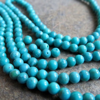 Right turquoise Arizona, 4mm bead, 1pc