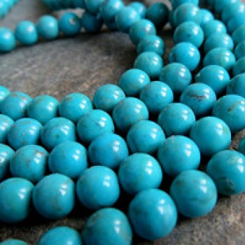 Right turquoise Arizona, bead 6mm, 1pc