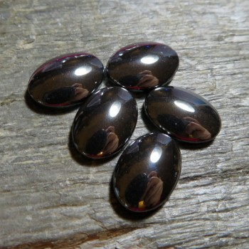 Natural hematite, oval 10x14, 1pc