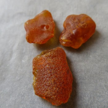Raw natural Amber, Lithuania, set no.2