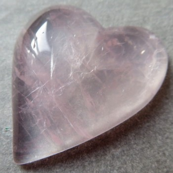 Pure rose quartz, Madagascar, heart no.3