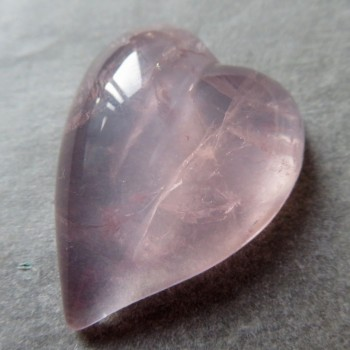 Pure rose quartz, Madagascar, heart no.9